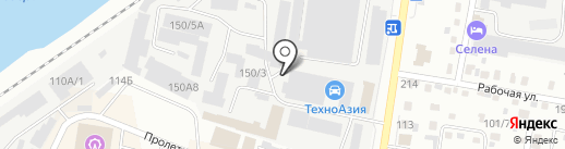 Серышевский на карте Благовещенска