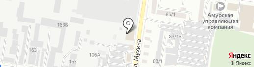 Магия Потолков на карте Благовещенска