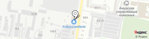 Мужская парикмахерская на карте Благовещенска
