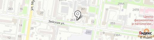 Прачечная №2 на карте Благовещенска
