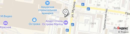 Диванчик на карте Благовещенска