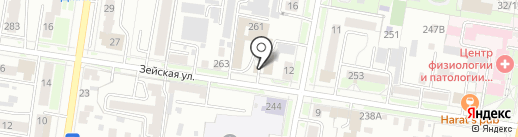 Кабинет логопеда-дефектолога на карте Благовещенска