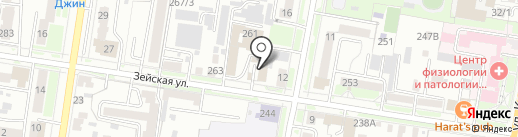 АТС на карте Благовещенска