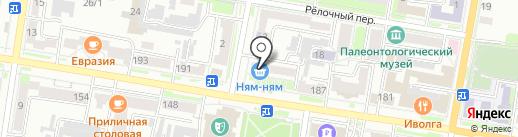 Магазин открыток, настольных игр и канцелярских товаров на карте Благовещенска
