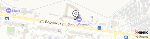 Золотой колос на карте Благовещенска