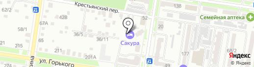 Сакура на карте Благовещенска