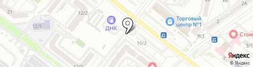 Автостоянка на Игнатьевском шоссе на карте Благовещенска