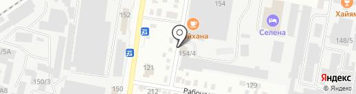 Автомойка на Заводской на карте Благовещенска