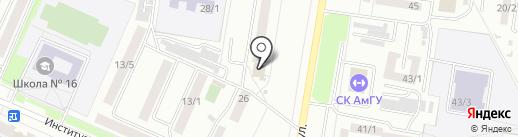 Банкомат, Почта Банк, ПАО на карте Благовещенска