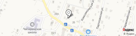 Золотая подкова на карте Чигирей