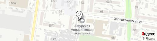 Дом в Благовещенске на карте Благовещенска