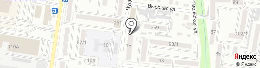Фемина на карте Благовещенска
