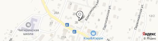 Продуктовый магазин №36 на карте Чигирей
