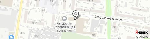 Союз старших домов на карте Благовещенска