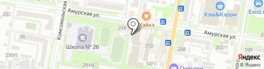 Савтикон на карте Благовещенска