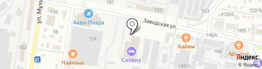 Селена на карте Благовещенска