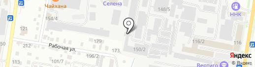 Арамэ на карте Благовещенска