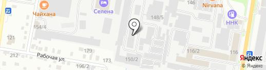Кубера на карте Благовещенска