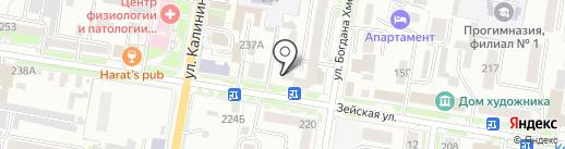 Амур-Имплант на карте Благовещенска