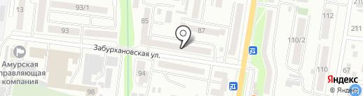Аврора на карте Благовещенска