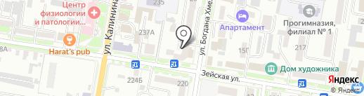 Амурская недвижимость на карте Благовещенска