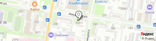 Фруктовый гаражик на карте Благовещенска