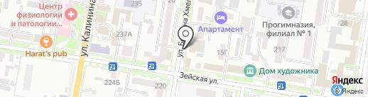 ФМ Рус на карте Благовещенска