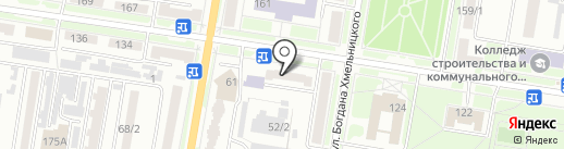 Центральная городская библиотека на карте Благовещенска