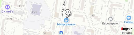 Бакалейным магазин на карте Благовещенска
