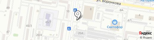Автостоянка на ул. Воронкова на карте Благовещенска