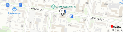 Министерство транспорта и дорожного хозяйства Амурской области на карте Благовещенска