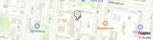 Санер на карте Благовещенска