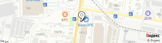 Дева на карте Благовещенска