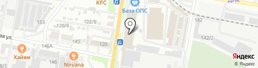 Стик на карте Благовещенска