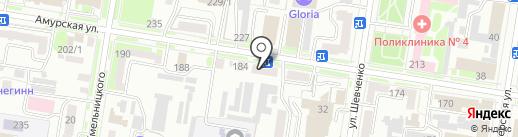 Бристоль-Партнер на карте Благовещенска