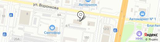 Амурпромснаб на карте Благовещенска