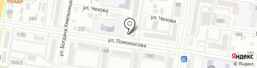 Туфелька на карте Благовещенска