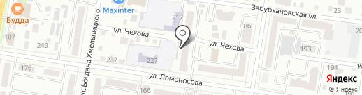 Кот матроскин на карте Благовещенска
