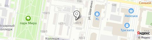 Амурский областной театр кукол на карте Благовещенска