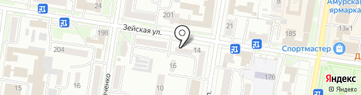 Кабинет массажа на карте Благовещенска