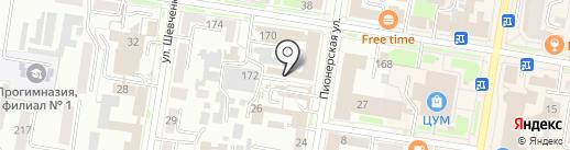Адвокатский кабинет Махно Е.В. на карте Благовещенска