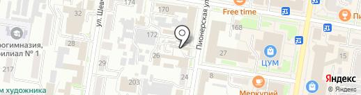 Рыбный магазин на карте Благовещенска