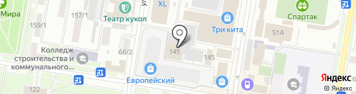 Центральный рынок на карте Благовещенска