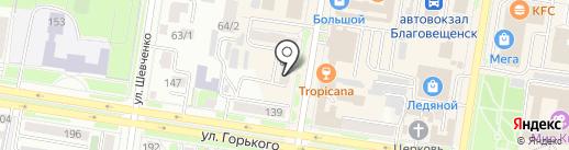 моDа iz комода на карте Благовещенска