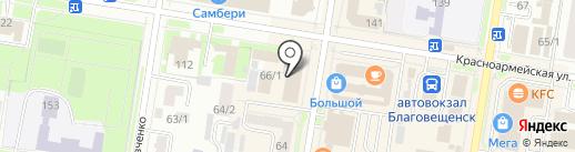 Москва на карте Благовещенска