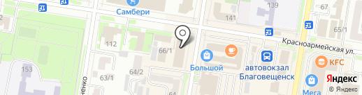 ЭКОстиль на карте Благовещенска