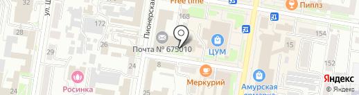 Почтовое отделение №30 на карте Благовещенска