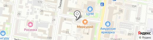 Коллегия адвокатов Амурской области №7 на карте Благовещенска
