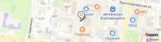 Специализированная пожарно-спасательная часть на карте Благовещенска