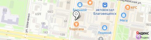 Главное Управление МЧС России по Амурской области на карте Благовещенска